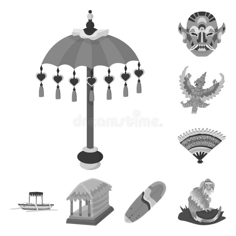 Vektorillustration av asiatet och geografitecknet o vektor illustrationer