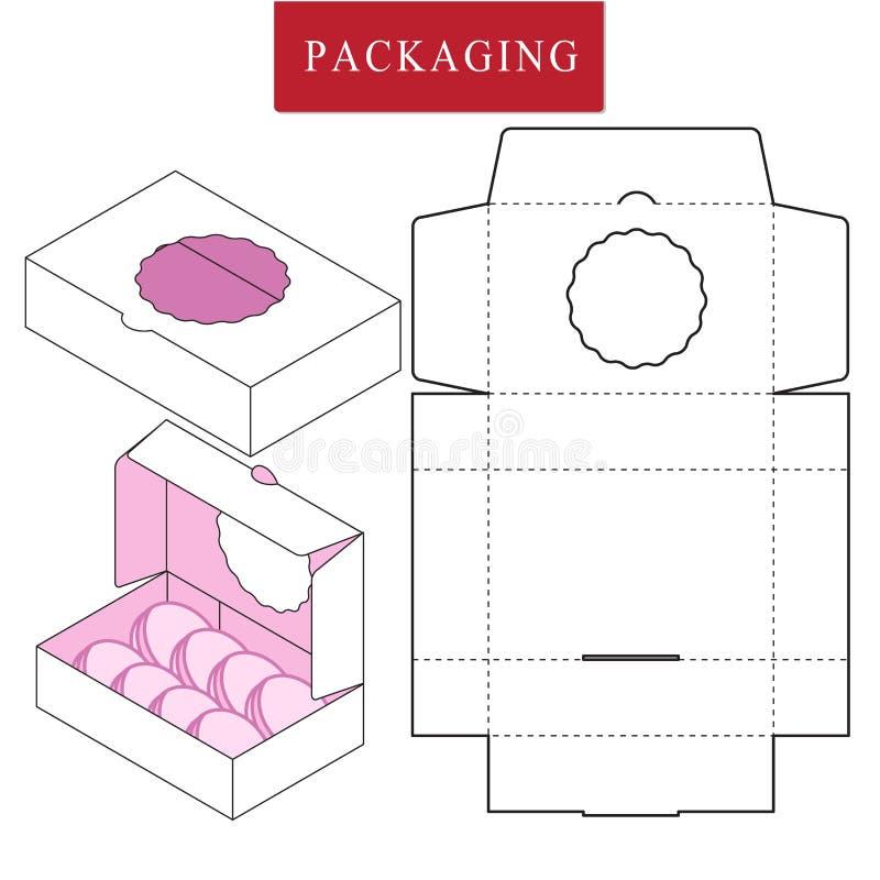 Vektorillustration av asken packemall stock illustrationer