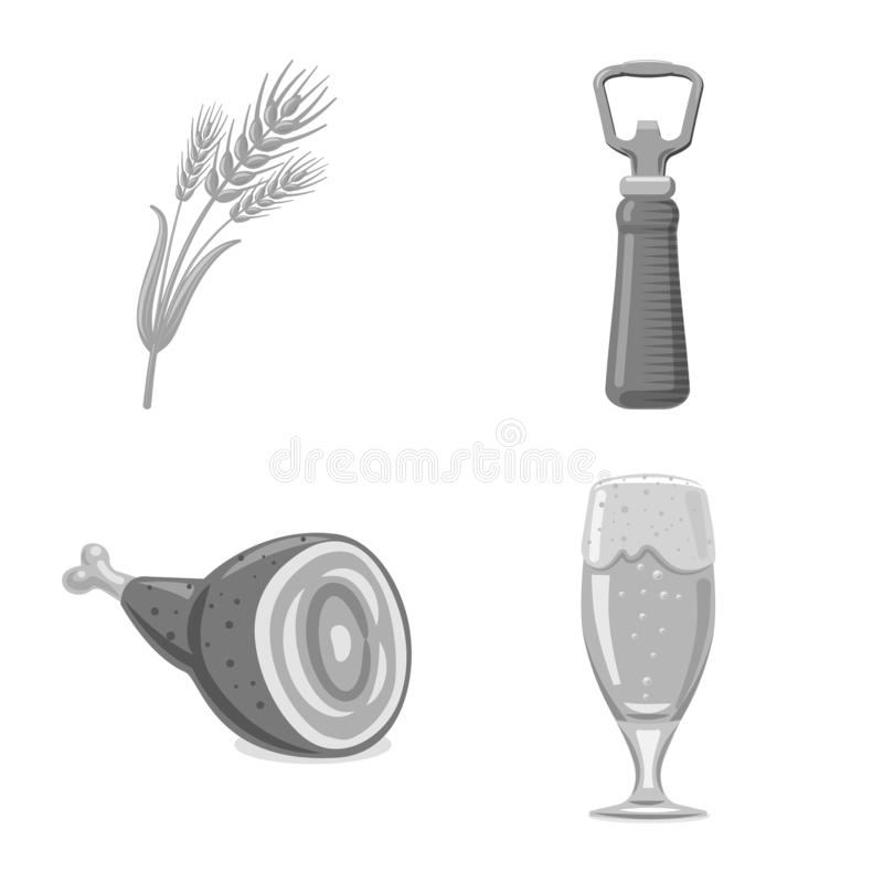 Vektorillustration av bar- och st?ngsymbolen Upps?ttning av bar- och inrevektorsymbolen f?r materiel stock illustrationer