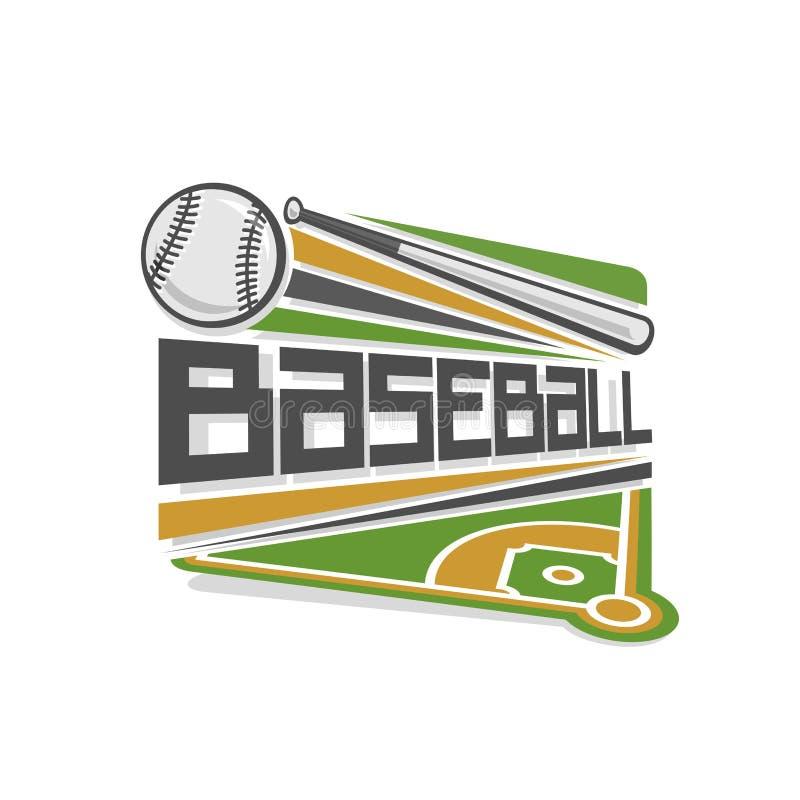 Vektorillustration av baseball vektor illustrationer