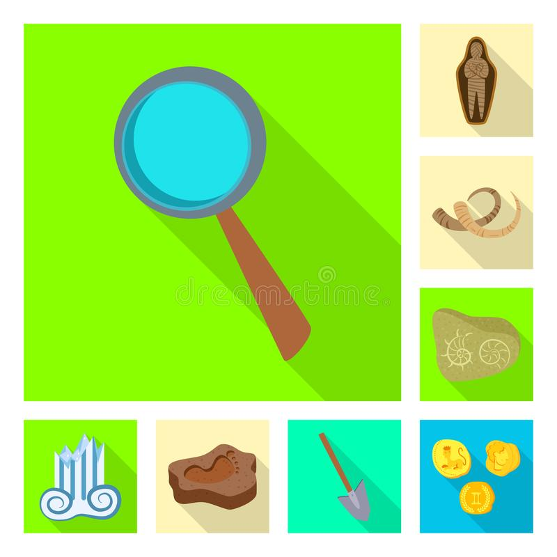 Vektorillustration av berättelse- och objektsymbolet Samling av berättelse- och attributvektorsymbolen för materiel royaltyfri illustrationer