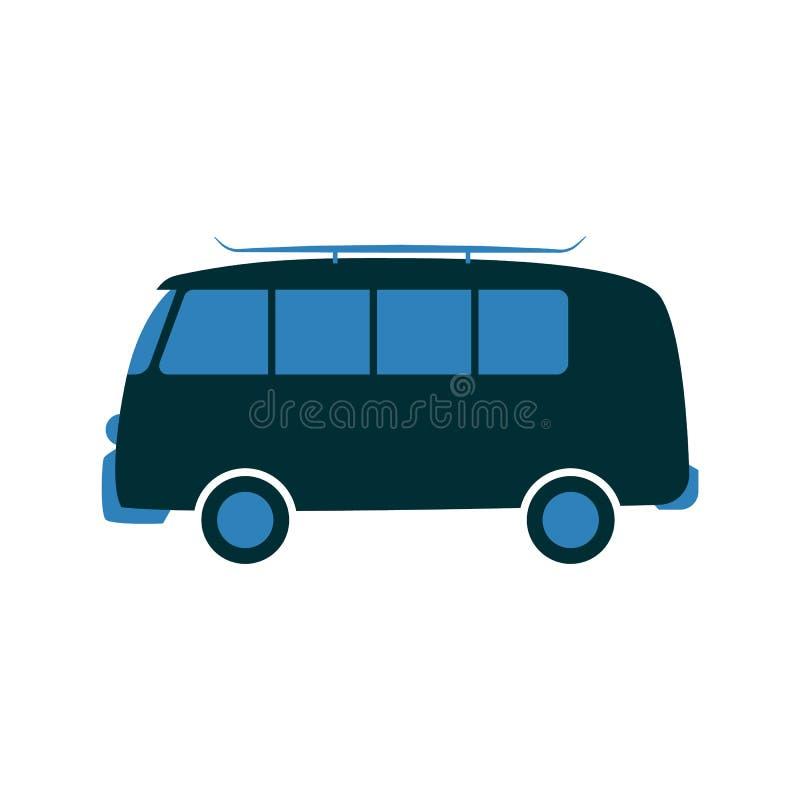 Vektorillustration av bilen för passagerareskåpbil i plan stil stock illustrationer