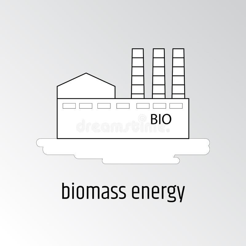 Vektorillustration av biomassaenergi vektor illustrationer