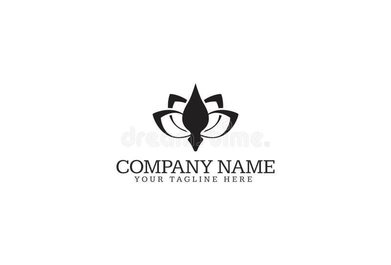 Vektorillustration av blomman Logo Design royaltyfri illustrationer