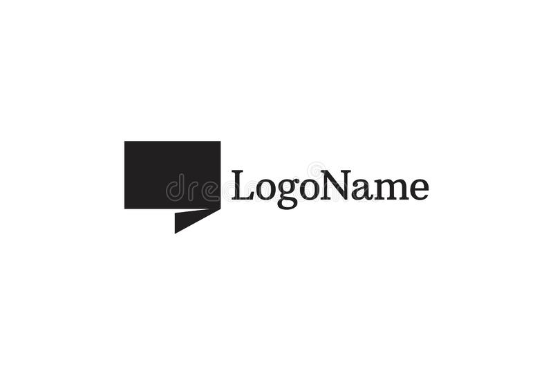 Vektorillustration av citationstecknet Logo Design stock illustrationer