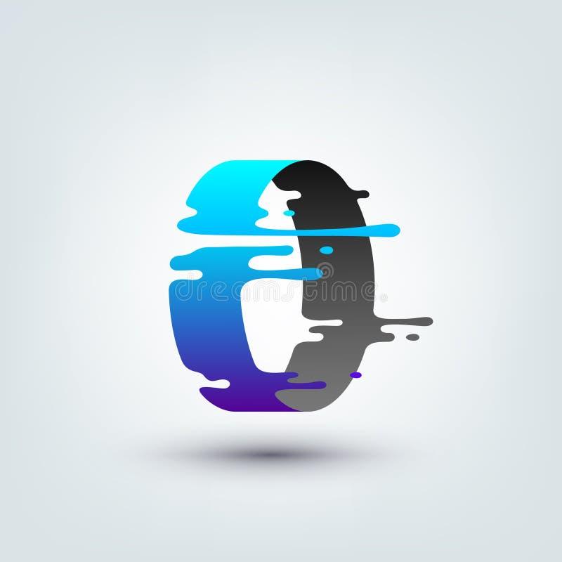 Vektorillustration av den abstrakt begrepp färgade cirkeln 3d stock illustrationer