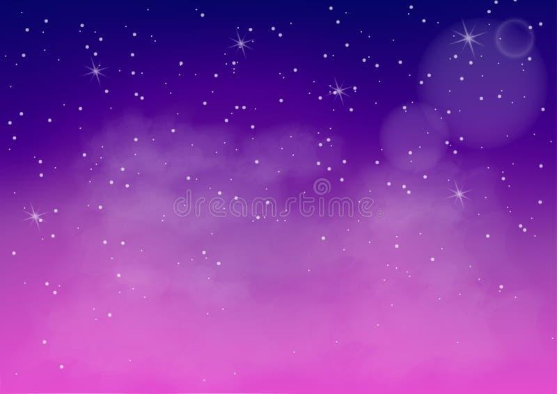 Vektorillustration av den fantastiska färgrika galaxen, abstrakt kosmiskt vektor illustrationer