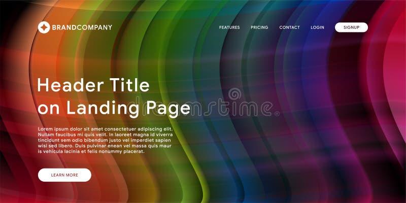 Vektorillustration av den idérika designen med färgrika former för vätska Moderiktiga färglutningar Remsadesign Vätska formar sam vektor illustrationer