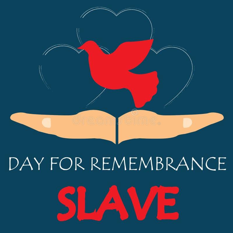 Vektorillustration av den internationella dagen för minnet av den slav- Trade och dess avskaffande stock illustrationer