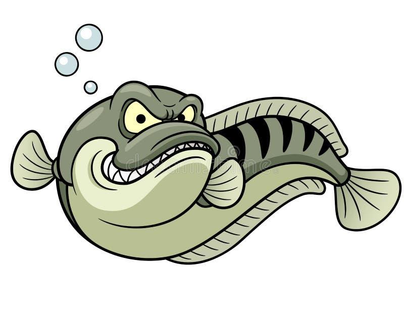 Jätte- snakeheadfisk royaltyfri illustrationer