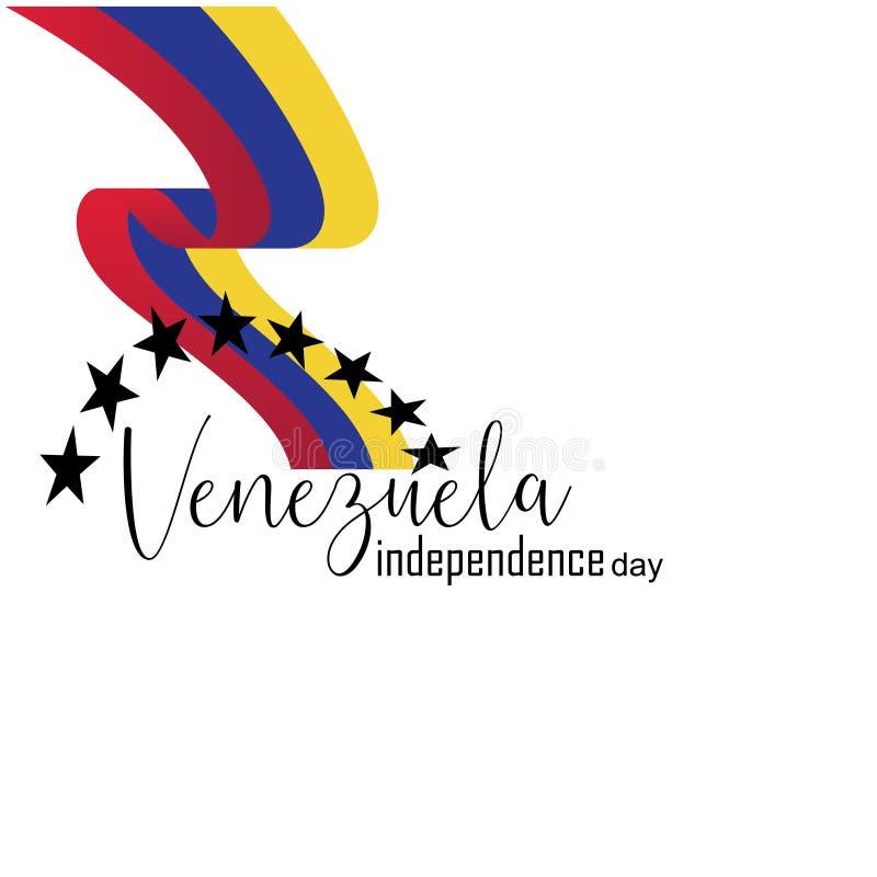 Vektorillustration av den lyckliga Venezuela sj?lvst?ndighetsdagen vektor illustrationer