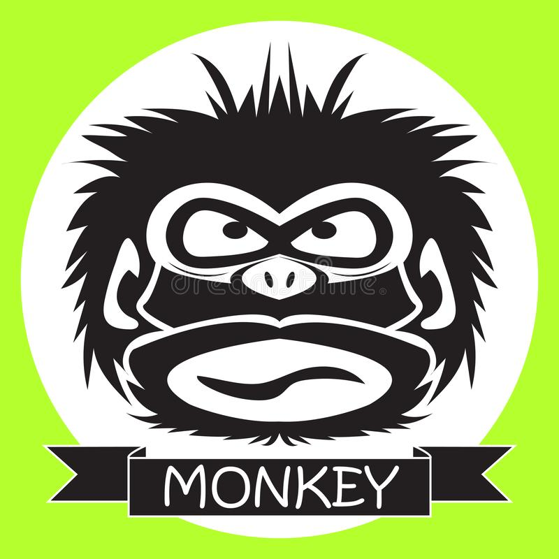 Vektorillustration av den roliga schimpansen vektor illustrationer