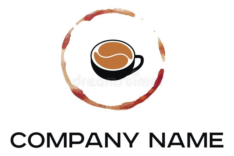 Vektorillustration av den svarta koppen kaffe stock illustrationer