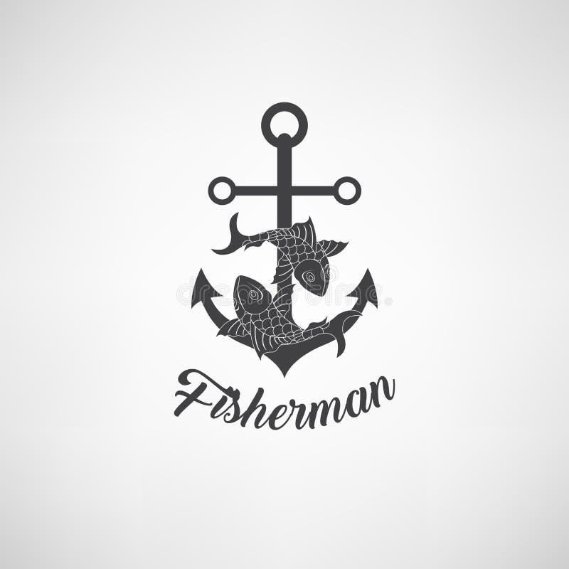 Vektorillustration av det nautiska ankaret Symbolet av sjömän, seglar, kryssning och havet Exotisk öillustration Symbols- och des stock illustrationer