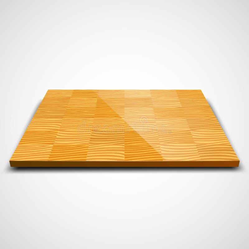 Vektorillustration av det wood golvet för parkett vektor illustrationer