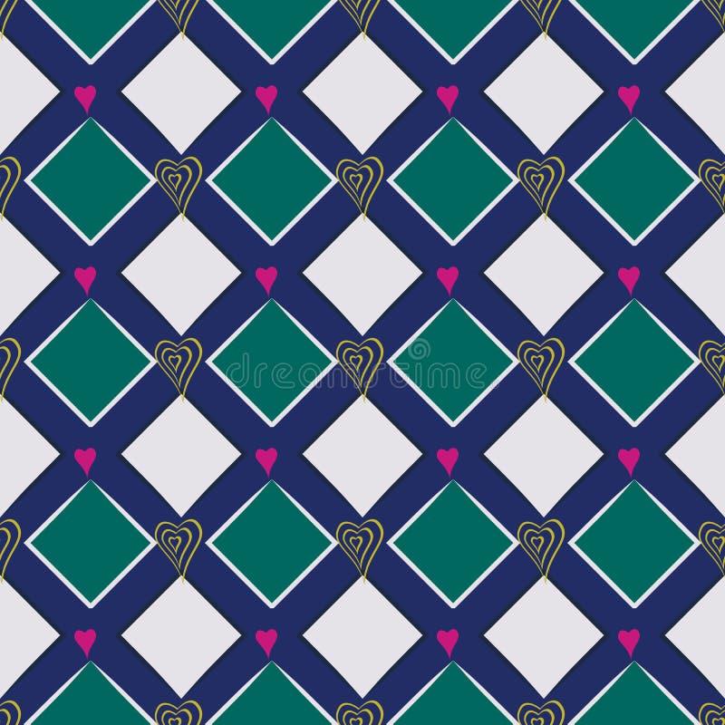 Vektorillustration av diagonala rektanglar stock illustrationer