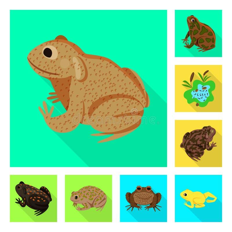 Vektorillustration av djurliv- och myrlogoen Samling av djurliv- och reptilvektorsymbolen f?r materiel vektor illustrationer