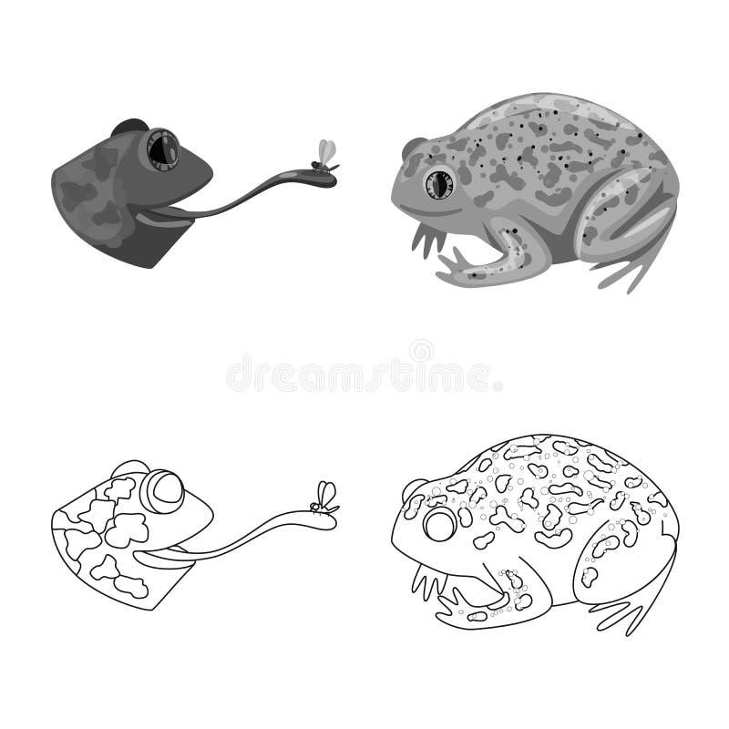 Vektorillustration av djurliv- och myrlogoen St?ll in av djurliv- och reptilmaterielsymbolet f?r reng?ringsduk vektor illustrationer
