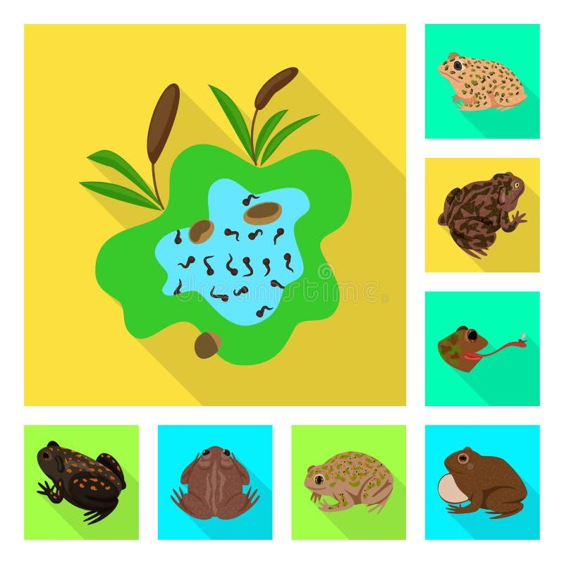 Vektorillustration av djurliv- och myrsymbolen St?ll in av djurliv- och reptilvektorsymbolen f?r materiel vektor illustrationer