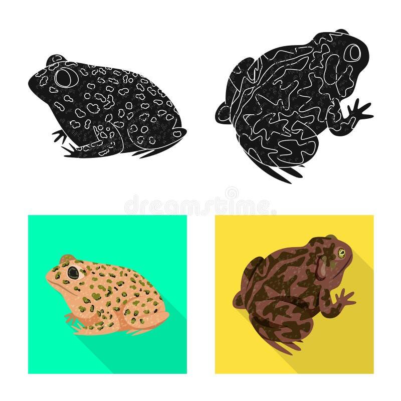 Vektorillustration av djurliv- och myrsymbolet St?ll in av illustration f?r djurliv- och reptilmaterielvektor stock illustrationer