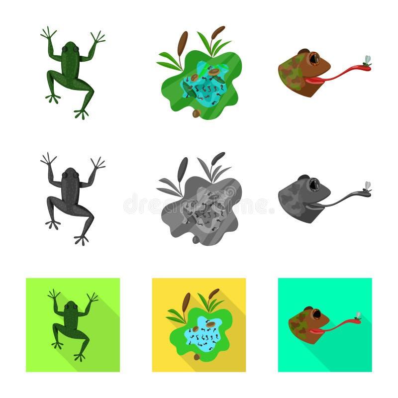 Vektorillustration av djurliv- och myrsymbolet St?ll in av djurliv- och reptilmaterielsymbolet f?r reng?ringsduk vektor illustrationer