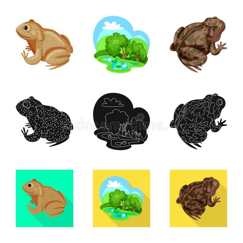 Vektorillustration av djurliv- och myrsymbolet St?ll in av djurliv- och reptilvektorsymbolen f?r materiel royaltyfri illustrationer