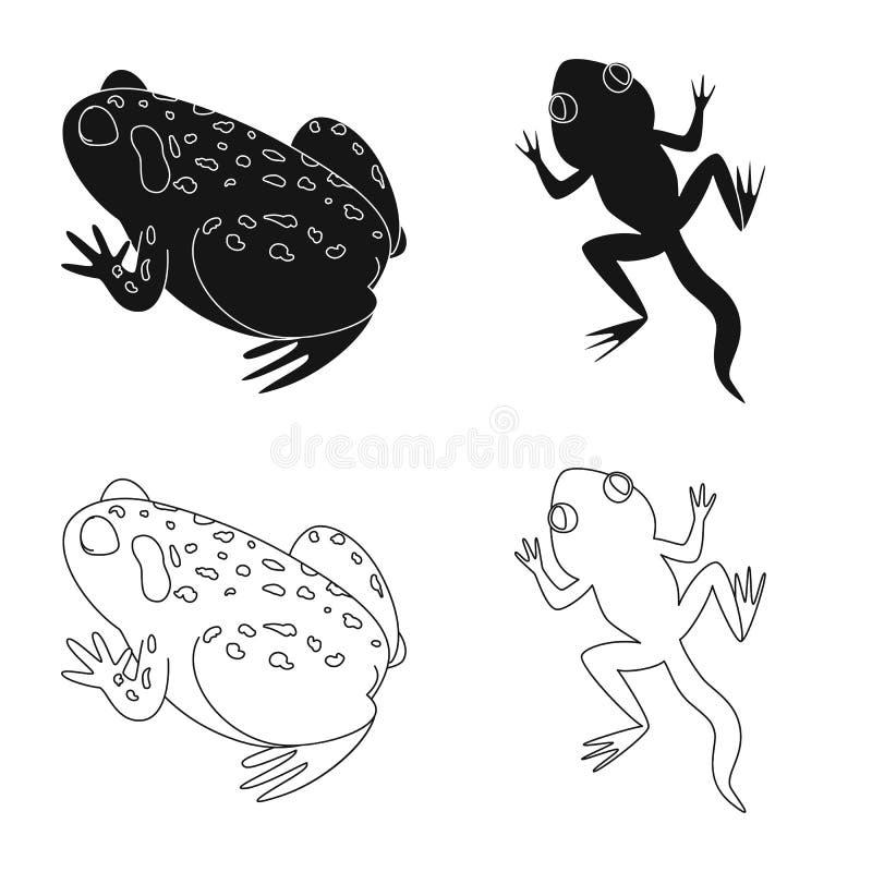Vektorillustration av djurliv- och myrtecknet St?ll in av djurliv- och reptilmaterielsymbolet f?r reng?ringsduk royaltyfri illustrationer