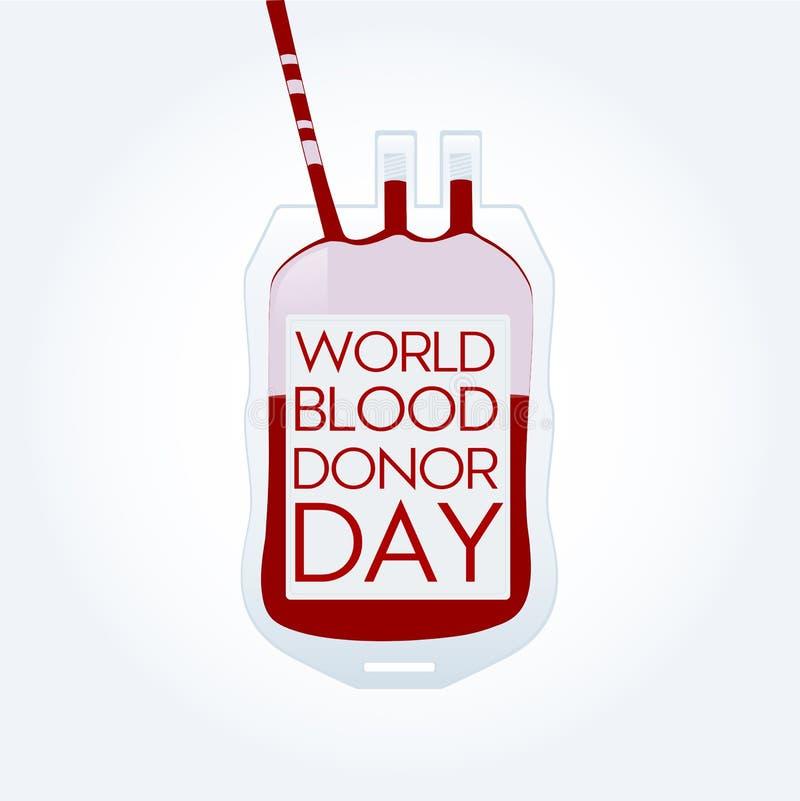 Vektorillustration av Donate blodbegreppet för världsblodgivaredag vektor illustrationer