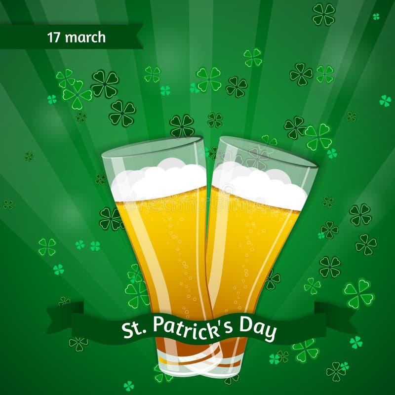 Vektorillustration av en dag för St Patrick ` s royaltyfri illustrationer