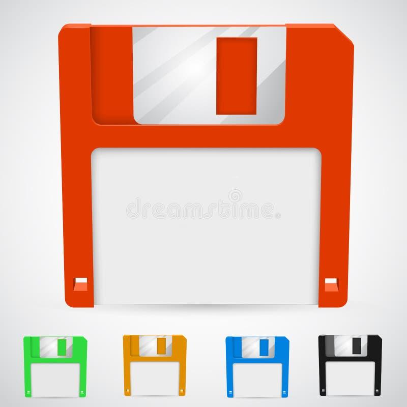 Vektorillustration av en diskett stock illustrationer