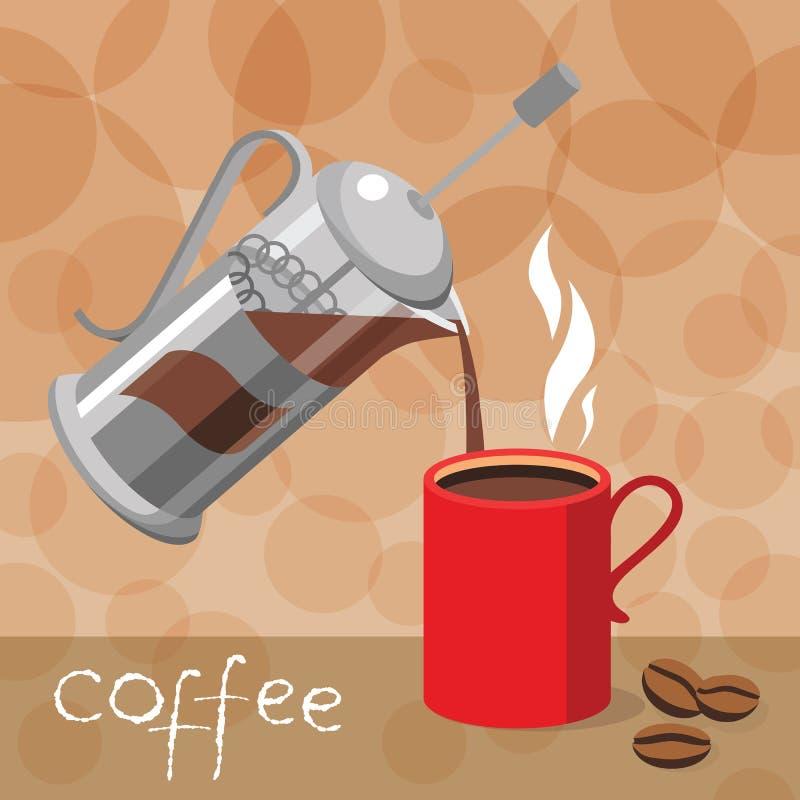Vektorillustration av en företags stil för beståndsdel för kafé vektor illustrationer