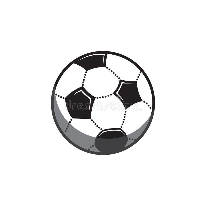 Vektorillustration av en fotbollboll stock illustrationer