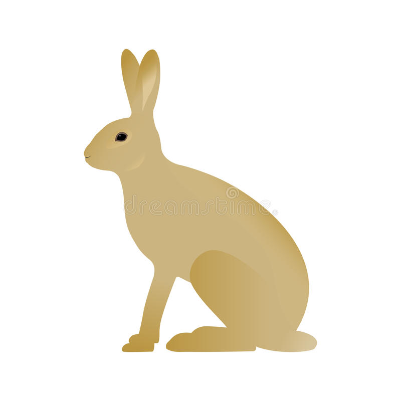 Vektorillustration av en hare stock illustrationer