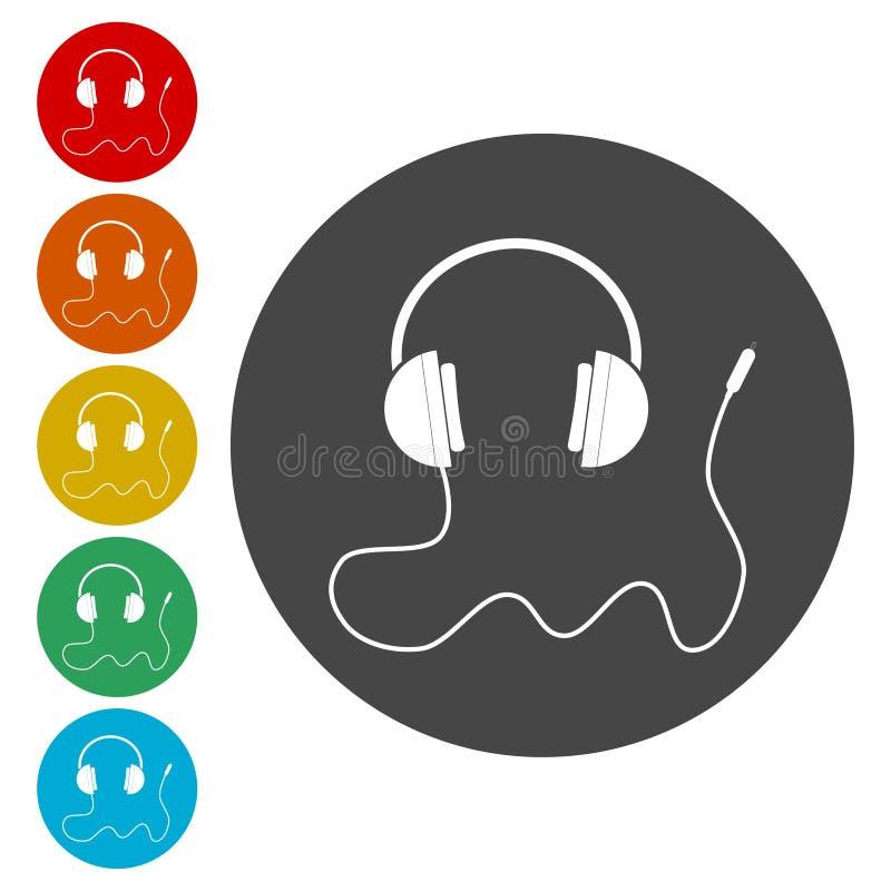 Vektorillustration av en headphone vektor illustrationer