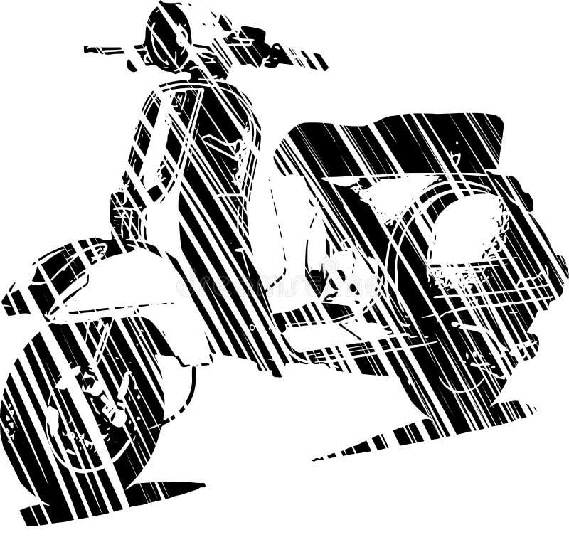 Vektorillustration av en italiensk sparkcykel med flaggan royaltyfri illustrationer