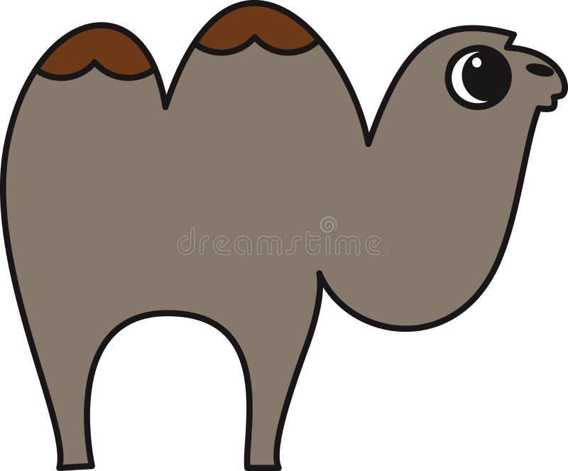 Vektorillustration av en kamel vektor illustrationer