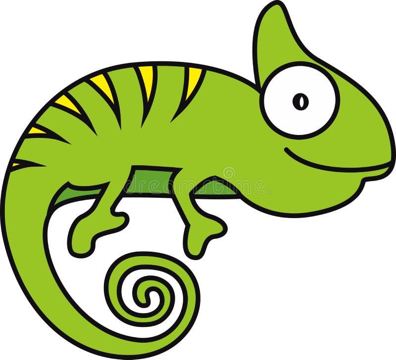 Vektorillustration av en kameleont vektor illustrationer