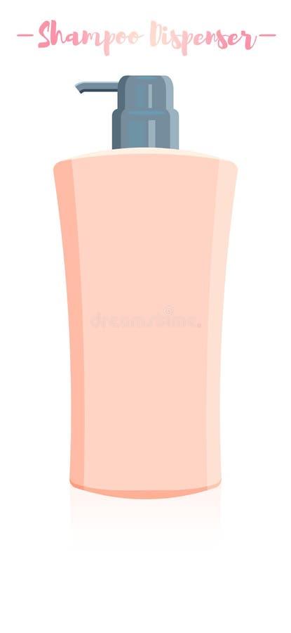 Vektorillustration av en utmatare b för schampo för skönhetredskaphår stock illustrationer