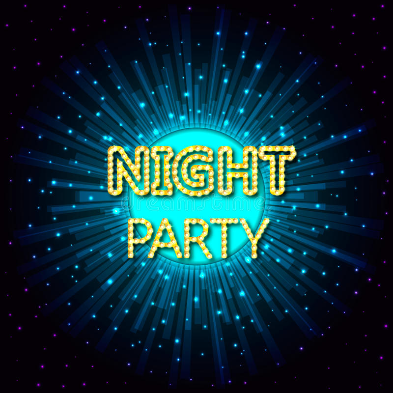Vektorillustration av ett nattparti på abstrakt bakgrund royaltyfri illustrationer