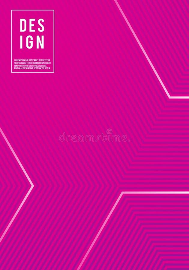 Vektorillustration av för modellbakgrund för ljus färg den abstrakta mallen för affisch med linjen lutningtextur för minsta dynam stock illustrationer