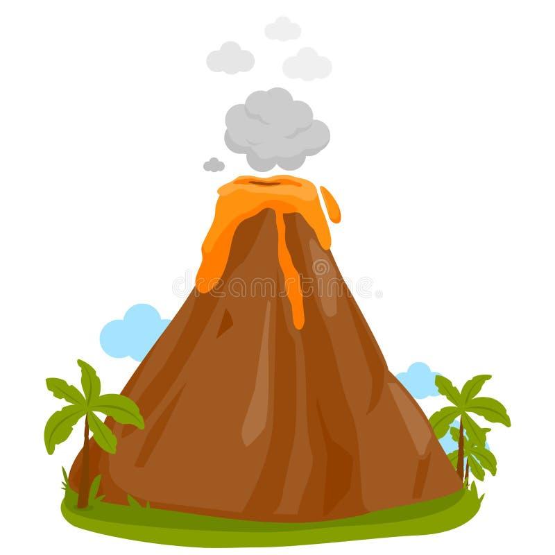 Vektorillustration av f? utbrott f?r vulkan stock illustrationer