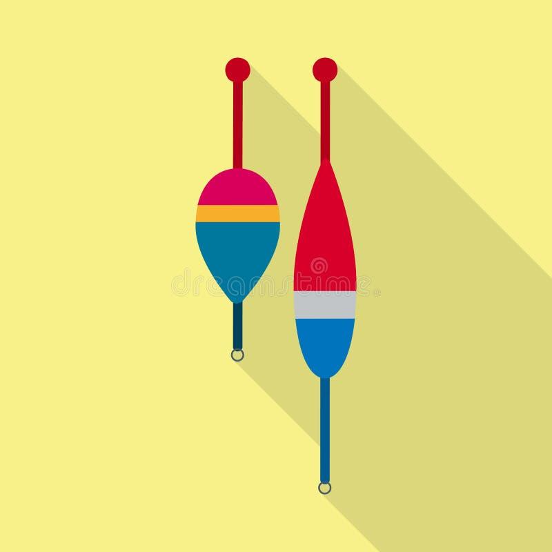 Vektorillustration av fisk- och fiskesymbolen Samling av illustrationen för fisk- och utrustningmaterielvektor royaltyfri illustrationer