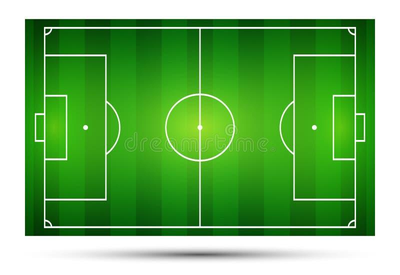 Vektorillustration av fotbollfältet, fotbollfält vektor illustrationer