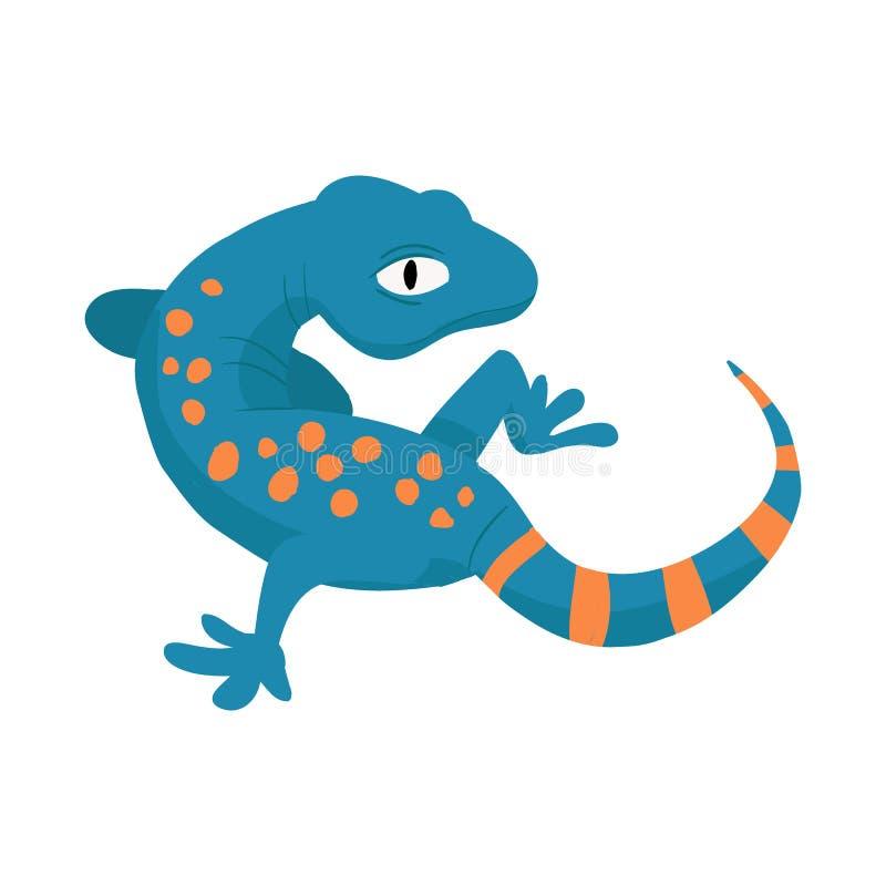Vektorillustration av gecko- och ödlalogoen Samlingen av geckon och gulligt lagerför vektorillustrationen stock illustrationer