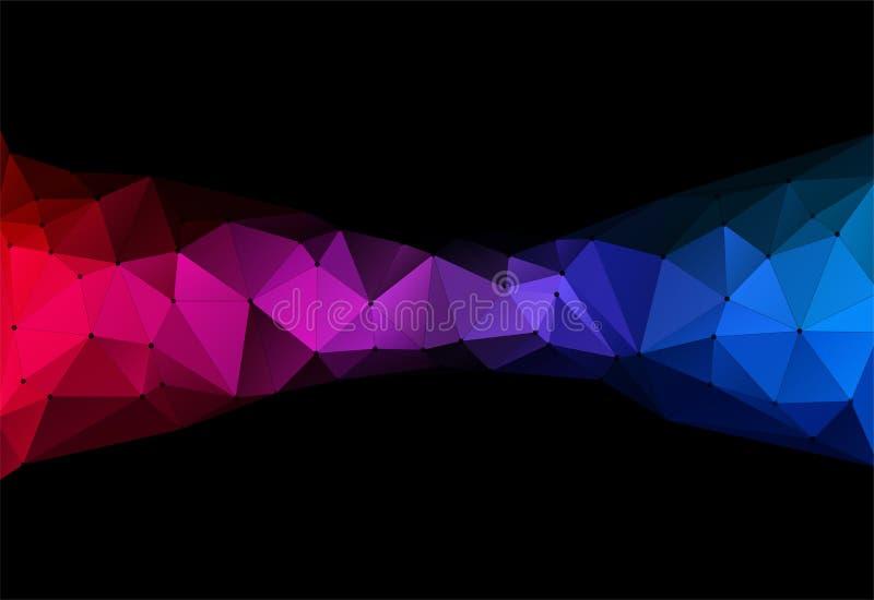 Vektorillustration av geometrisk backround för färgtriangel vektor illustrationer