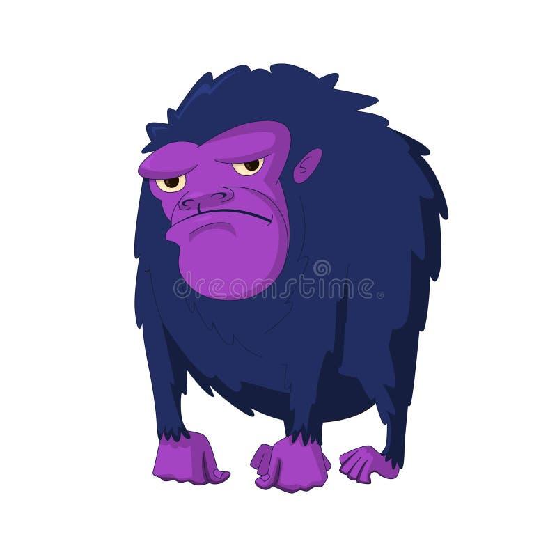 Vektorillustration av gorillan stock illustrationer