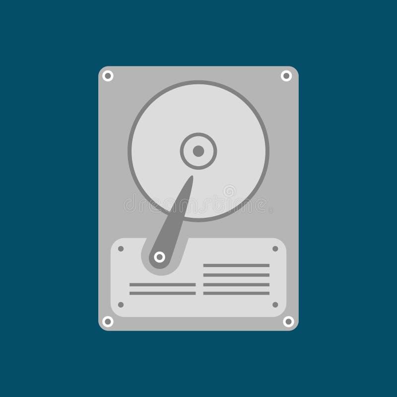Vektorillustration av hårddiskdrev hårt diskdrev vektor illustrationer