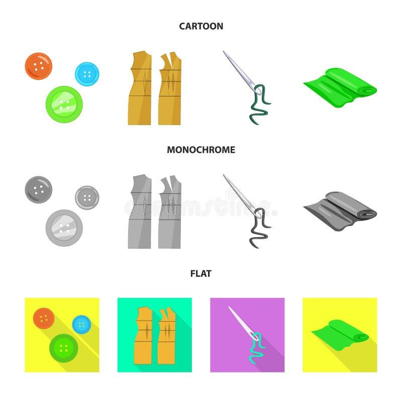 Vektorillustration av hantverket och att handcraft logo Samling av illustrationen f?r hantverk- och branschmaterielvektor royaltyfri illustrationer