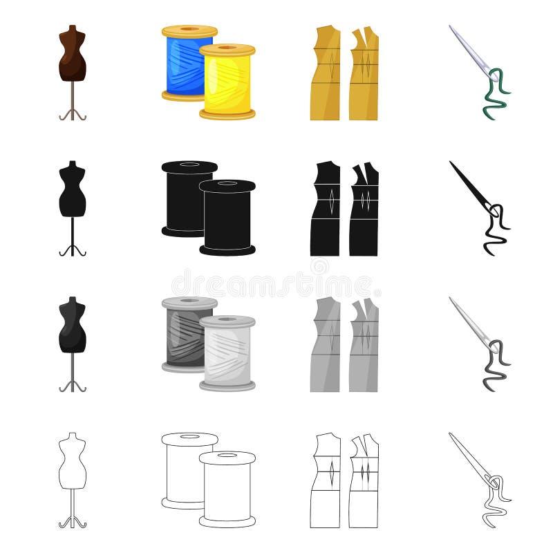Vektorillustration av hantverket och att handcraft logo St?ll in av illustration f?r hantverk- och branschmaterielvektor royaltyfri illustrationer