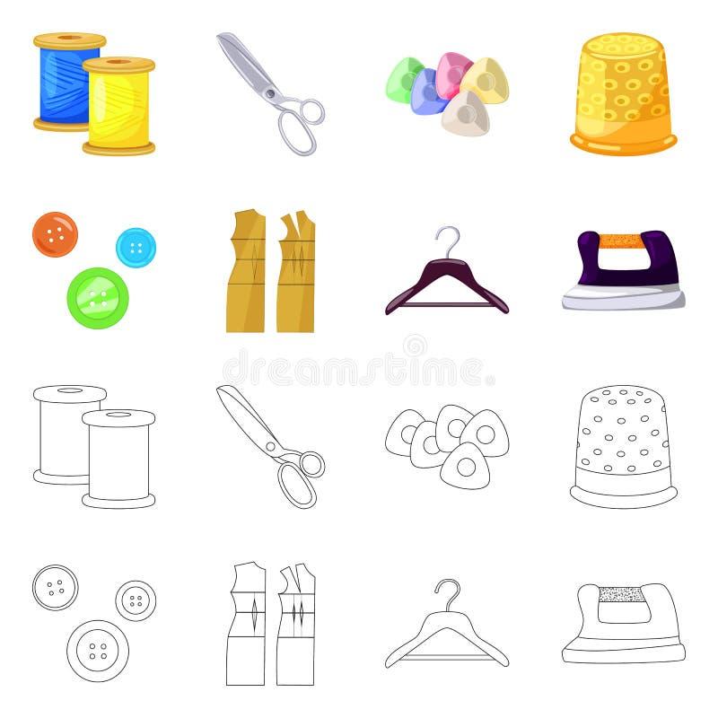 Vektorillustration av hantverket och att handcraft logo St?ll in av illustration f?r hantverk- och branschmaterielvektor stock illustrationer